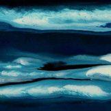 Sascha Weinberg: Aqua I, 50x40x1,8cm, Verlaufstechnik, Acryl auf Leinwand, 2014 | Art On Screen - [AOS] Magazine
