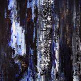 Sascha Weinberg: Rheingold I ,50x70x1,8cm, Spachteltechnik, Acryl auf leinwand, 2014(2) | Art On Screen - [AOS] Magazine