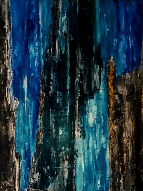 Sascha Weinberg: Rheingold II,60x80x1,8cm,Spachteltechnik, 2014   Art On Screen - [AOS] Magazine