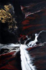Sascha Weinberg: Terra, 120x80x5cm, Acryl auf Leinwand, Verlaufstechnik, 2014(2) |Art On Screen - [AOS] Magazine