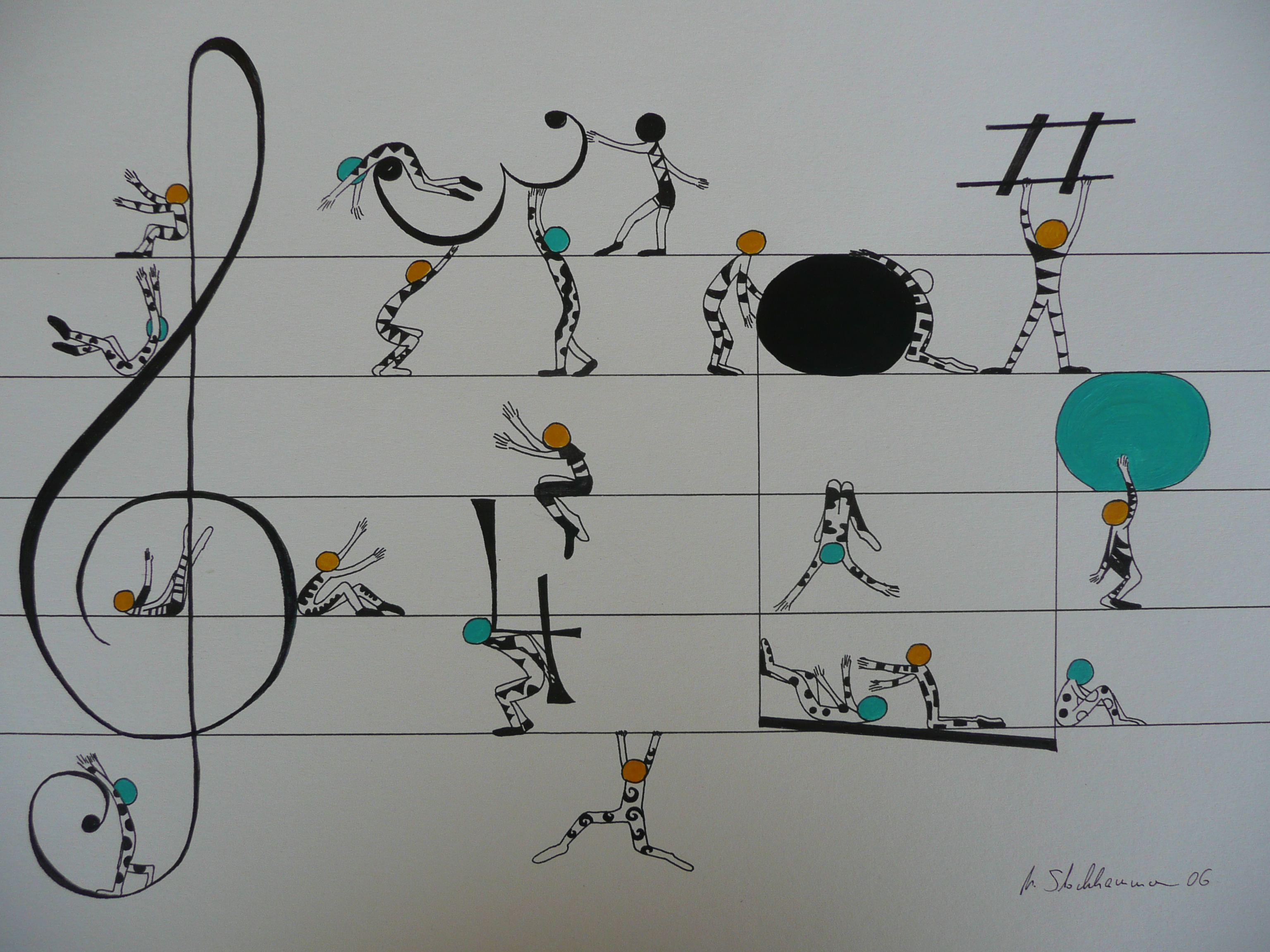 Michaela Stockhammer. Tinte, Acryl. 30x 40 cm | Art On Screen - [AOS] Magazine