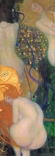Klimt, Schiele, Kokoschka | Gustav Klimt, Goldfische, 190102, Öl auf Leinwand, 181 x 67 cm, © Kunstmuseum Solothurn, Dübi-Müller-Stiftung, 1980