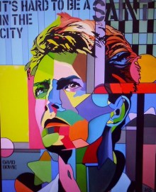 Martin G. Sonnleitner, David Bowie - It`s hard to be a Saint - Acryl auf Leinwand, Art On Screen - [AOS] Magazine