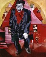 Bildgalerie zur Ausstellung Chagall bis Malewitsch, Marc Chagall, Roter Jude, 1915, St. Petersburg, Staatliches Russisches Museum © Bildrecht, Wien, 2015