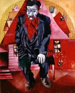 Chagall bis Malewitsch, Marc Chagall, Roter Jude, 1915, St. Petersburg, Staatliches Russisches Museum © Bildrecht, Wien, 2015