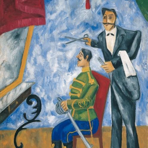 Bildgalerie zur Ausstellung Chagall bis Malewitsch, Michail Larionow, Offizierfriseur, um 1907-1909, Wien, Albertina - Sammlung Batliner
