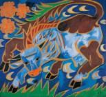 Natalia Gontscharowa, Die blaue Kuh, 1911, Wien, Albertina - Sammlung Batliner