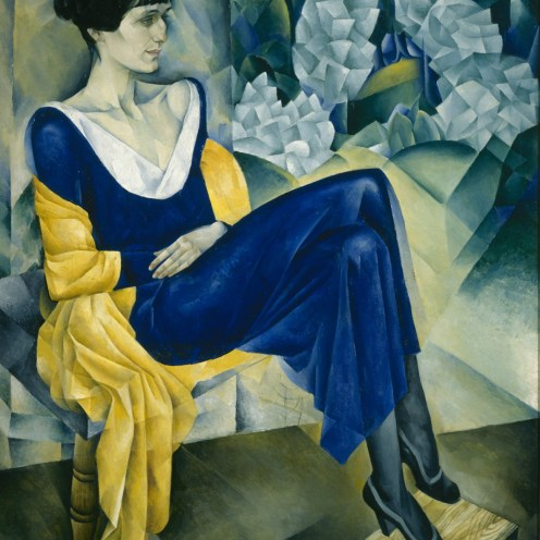 Bildgalerie zur Ausstellung Chagall bis Malewitsch, Natan Altman, Porträt von Anna Achmatowa, 1915, St. Petersburg, Staatliches Russisches Museum © Bildrecht, Wien, 2015