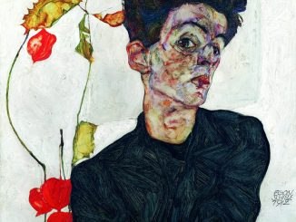 Egon Schiele, Selbstbildnis mit Lampionfrüchten, LEOPOLD MUSEUM, Art On Screen - [AOS] Magazine - NEWS