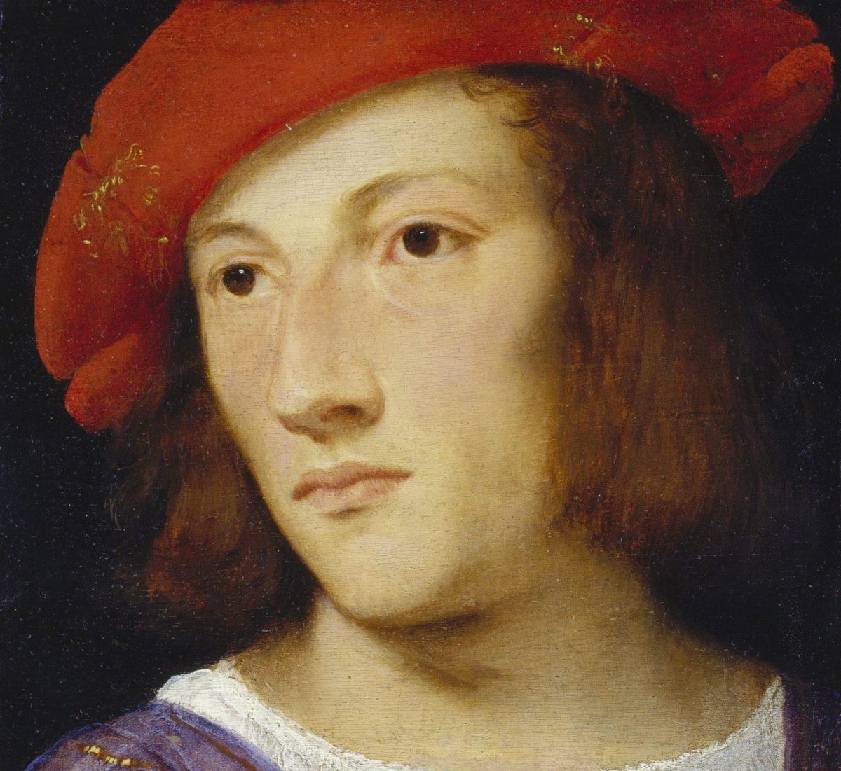 Tizian - Bildnis eines jungen Mannes