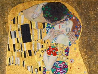 Gustav Klimt, The Kiss Of Vienna, der Kuss, Das Liebespaar,