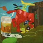 Peter Saul, amerikanischer pop art maler, Peter Saul Maler, Rich Dog. Peter Saul Werke
