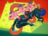 Peter Saul, amerikanischer pop art maler, Peter Saul Maler, San Quentin