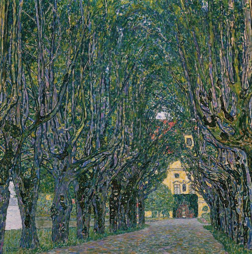 Gustav Klimt, Allee im Park vor Schloss Kammer, Art On Screen - News - [AOS] Magazine