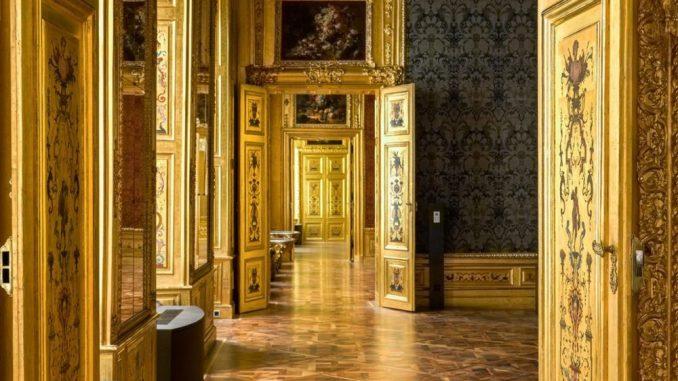 Das Winterpalais - Prinz Eugen, Prinz Eugen von Savoyen, Blick in den Blauen Salon im Winterpalais - Belvedere Museum Wien