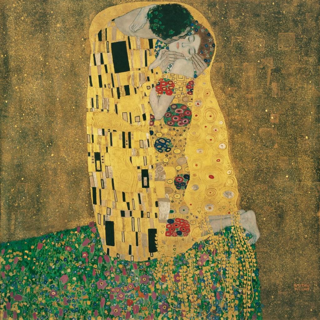 Gustav Klimt, The Kiss Of Vienna, der Kuss, Das Liebespaar,