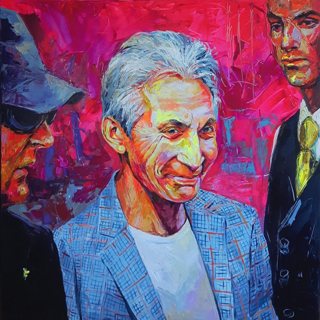 Enke Caecilie Jansson, Charlie Watts 140x140cm © Enke Caecilie Jansson - Art On Screen - NEWS - [AOS] Magazine