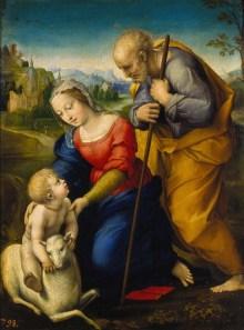 Raffael, Heilige Familie mit dem Lamm, 1507 Museo del Prado, Madrid: © Joseph S.Martín - ARTOTHEK - Art On Screen - NEWS - [AOS] Magazine