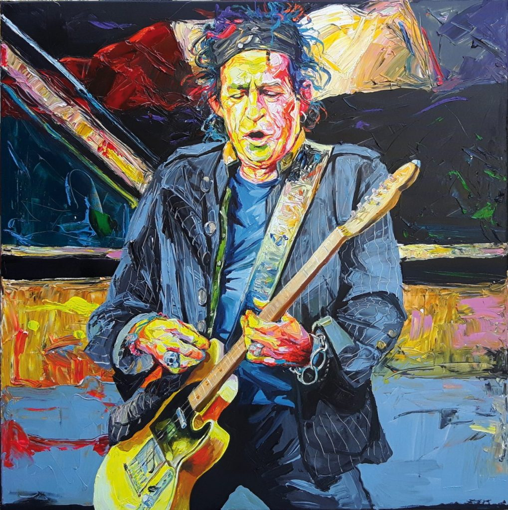 Enke Caecilie Jansson, Keith Richards 120x120cm © Enke Caecilie Jansson - Art On Screen - NEWS - [AOS] Magazine