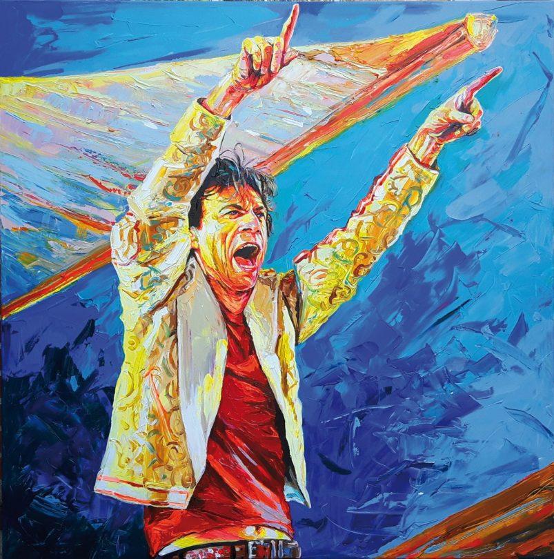 Enke Caecilie Jansson, Mick Jagger 120x120cm © Enke Caecilie Jansson - Art On Screen - NEWS - [AOS] Magazine