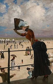 Berlinische Galerie, Franz Skarbina, Dame auf der Wandelbahn eines Seebades, Art On Screen - NEWS - [AOS] Magazine