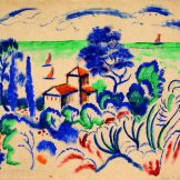 Gurlitt Ausstellung - Das Kunstmuseum Bern, August Macke, Landschaft mit Segelbooten, Art On Screen - News - [AOS] Magazine
