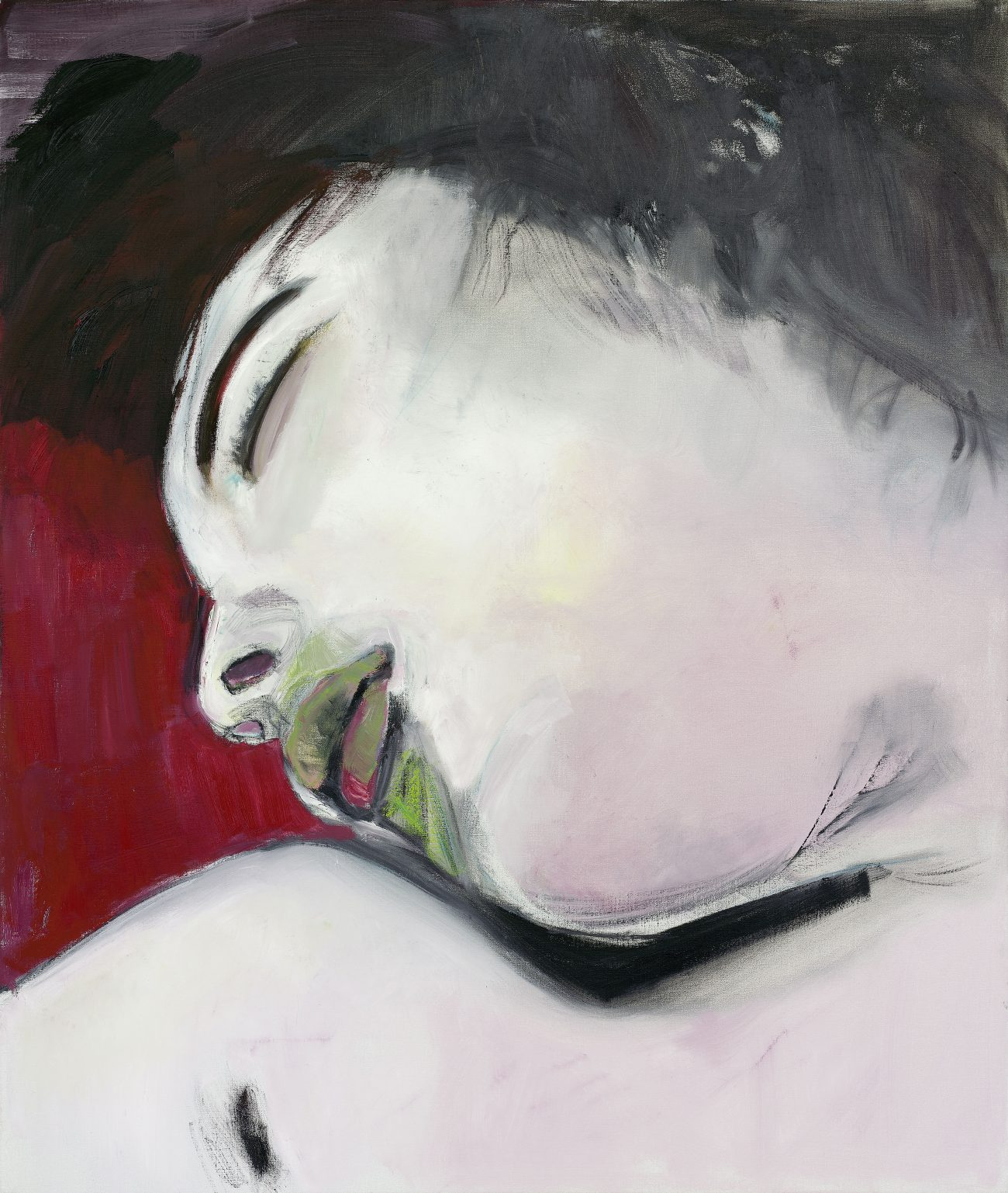 Ausstellung Cooperations, MARLENE DUMAS, BROKEN WHITE, 2006, Öl auf Leinwand, 130 x 110 cm, Fondation Beyeler, Art On Screen - News - [AOS] Magazine