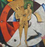 Marc Chagall Ausstellung, Hommage an Apollinaire (Hommage à Apollinaire), 1911-1912, Öl, Gold- und Silberpuder auf Leinwand, Art On Screen - News - [AOS] Magazine