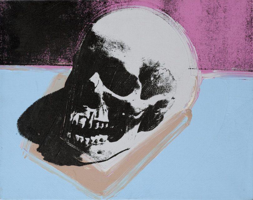 ANDY WARHOL, SKULL, 1976-77, Synthetische Polymerfarbe und Siebdruck auf Leinwand,, Art On Screen - News - [AOS] Magazine