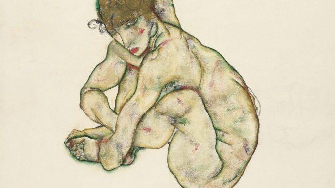 Egon Schiele Ausstellung, EGON SCHIELE 1890–1918, Kauernder Mädchenakt, Art On Screen - News - [AOS] Magazine