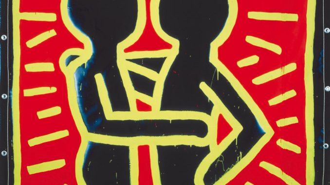 Keith Harings Alphabet, Keith Haring, Ohne Titel, 1982 Vinylfarbe auf Vinylplane, Art On Screen - News - [AOS] Magazine
