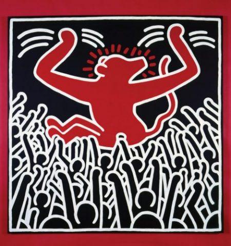 Keith Harings Alphabet, Keith Haring, Ohne Titel, 1985 Acryl auf Leinwand, Art On Screen - News - [AOS] Magazine