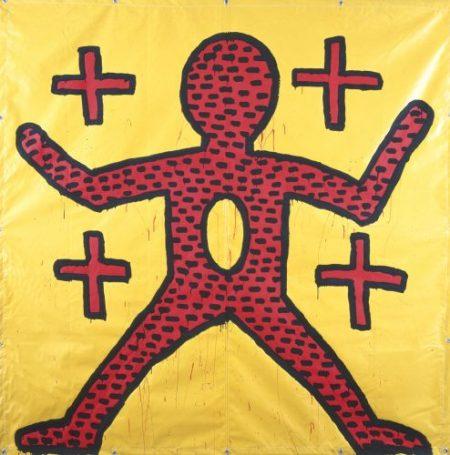Keith Harings Alphabet, Keith Haring Ohne Titel, 1981, Vinylfarbe auf Vinylplane, Art On Screen - News - [AOS] Magazine
