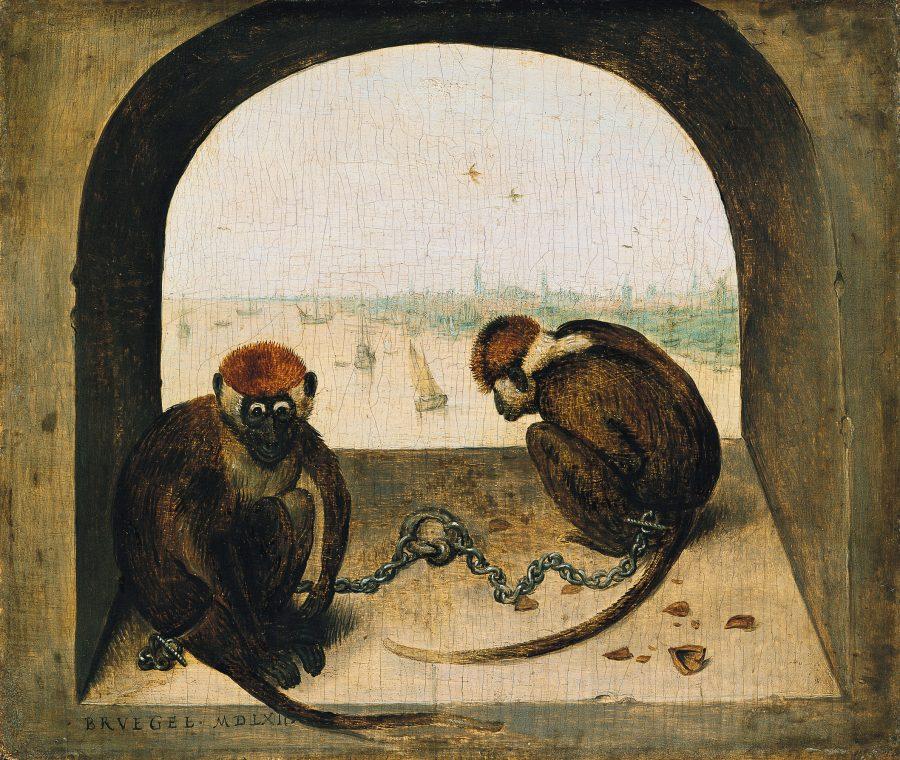 Pieter Bruegel Ausstellung, - Zwei angekettete Affen, Art On Screen - NEWS - [AOS] Magazine