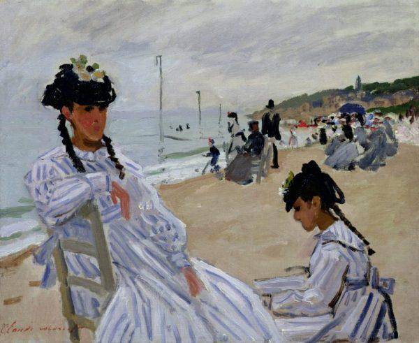 Claude Monet - Am Strand von Trouville, Art On Screen - NEWS - [AOS] Magazine