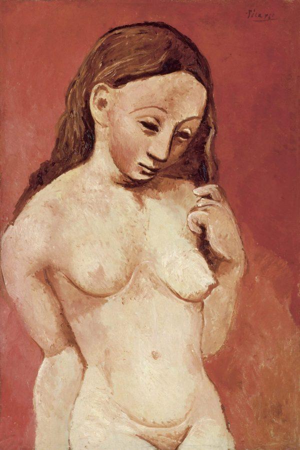 Picasso in Blau und Rosa, PABLO PICASSO, NU SUR FOND ROUGE, Fondation Beyler