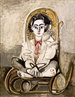 Pablo Picasso, Das späte Werk, Jacqueline im Schaukelstuhl, Museum Berberini