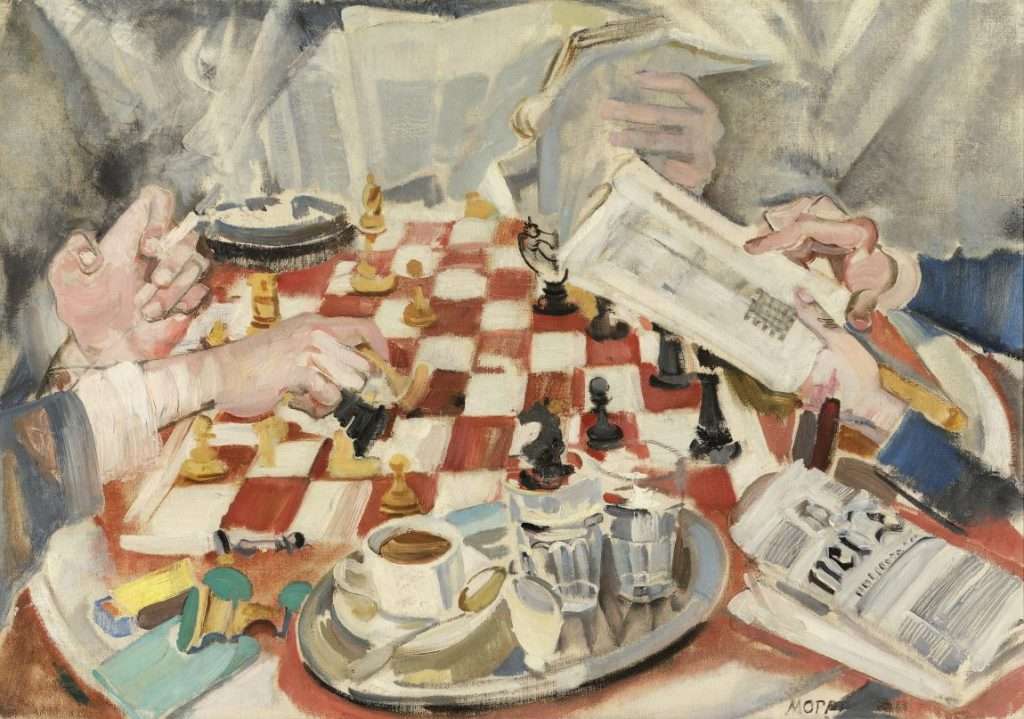 MAX OPPENHEIMER - Die Schachpartie, Wien um 1900, Aufbruch in die Moderne, MAX OPPENHEIMER, Die Schachpartie, Sammlung Oesterreichische Nationalbank, Ausstellung in Wien, Leopold Museum