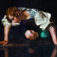 Caravaggios Gemälde Narziss - Michelangelo Merisi da Caravaggio
