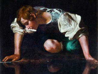 Caravaggio, Narziss, Michelangelo Merisi da Caravaggio Wege des Barock, Die Nationalgalerien Barberini Corsini in Rom, Ausstellung Wege des Barock, Museum Barberini,