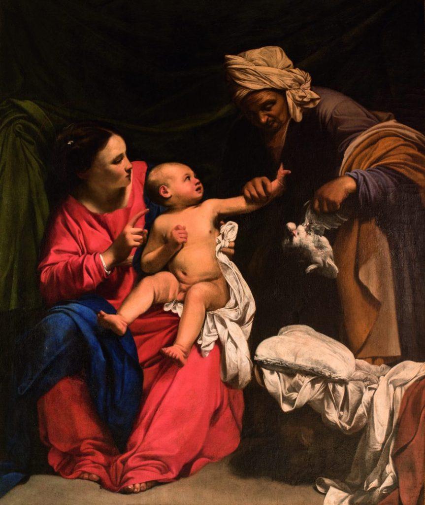 Carlo Saraceni, Madonna mit Kind und heilige Anna, Wege des Barock, Die Nationalgalerien Barberini Corsini in Rom, Ausstellung Wege des Barock,