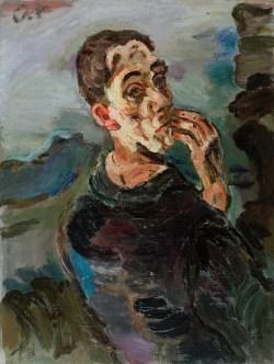 Oskar Kokoschka Biografie, Werke, Bilder, OSKAR KOKOSCHKA, Selbstbildnis,