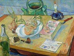 Vincent van Gogh, Stillleben mit einem Teller Zwiebeln, Van Gogh Stillleben, Von Gogh Ausstellung, Stillleben, Museum Barberini