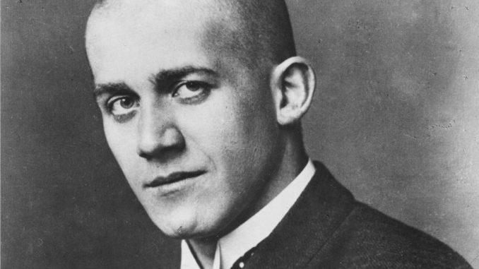 Oskar Kokoschka Biografie, Kokoschka mit kahlrasiertem Kopf,