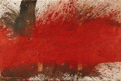 Hermann Nitsch, Bodenschüttbild, Räume aus Farbe, Albertina in Wien,