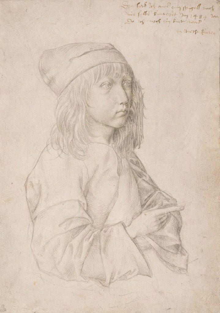 Albrecht Dürer Ausstellung, Albrecht Dürers Zeichnungen, Meisterwerke und Zeichnungen, Ausstellung in der Albertina, Selbstbildnis als Dreizehnjähriger