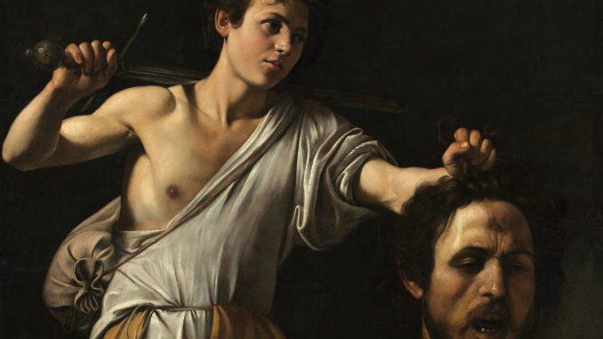 Caravaggio im Kunsthistorischen Museum,Michelangelo Merisi da Caravaggio, Caravaggio, Caravaggio Gemälde und Werke, David mit dem Haupt des Goliath, Caravaggio & Bernini Ausstellung, Erstmals in Österreich, Ausstellung im KHM