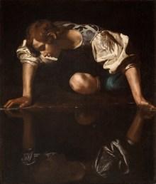 Caravaggio im Kunsthistorischen Museum, Michelangelo Merisi da Caravaggio, Caravaggios Gemälde Narziss, Caravaggio Werke, Caravaggio & Bernini Schau, Erstmals in Österreich,