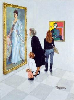 Norman Rockwell, Picasso vs. Sargent, Ausstellung AMERIKA, DISNEY, ROCKWELL, POLLOCK, WARHOL