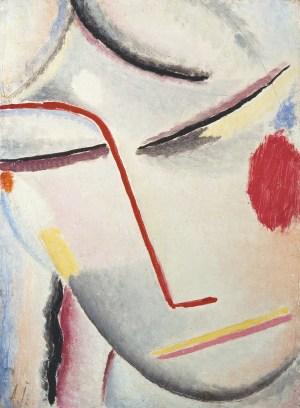 ALEXEJ VON JAWLENSKY, jawlensky bilder, Heilandsgesicht, Seelische Melodie, Deutscher Expressionismus, JAWLENSKY, ALEXEJ JAWLENSKY